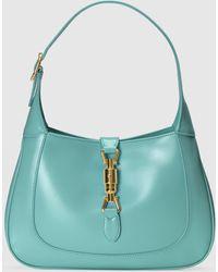 Gucci Kleine Jackie 1961 Hobo Tasche - Blau