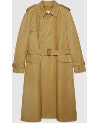 Gucci Trenchcoat aus Wolle mit Boutique - Natur