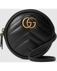 Gucci GG Marmont Mini-Tasche - Schwarz
