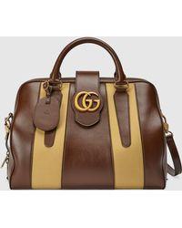 Gucci GG Marmont Reisetasche aus Leder - Braun