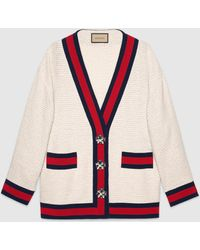 Gucci 【公式】 (グッチ)オーバーサイズ ツイード カーディガンジャケットオフホワイト ツイードホワイト