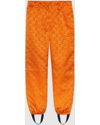 Gucci - 【公式】 (グッチ) Off The Grid ゲートル付きパンツオレンジ GG Econyl®オレンジ - Lyst