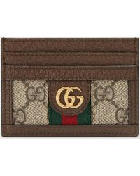 Gucci - 【公式】 (グッチ)〔オフィディア〕GG カードケースGGスプリームブラウン - Lyst