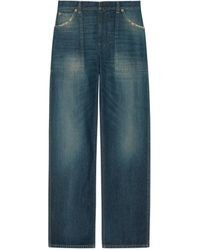 Gucci Eco Washed Organic Denim Cargo Pant - Blue
