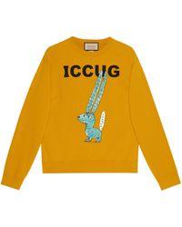 Gucci Online Exclusive Freya Hartas Iccug Print Sweatshirt - Yellow