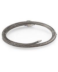 Gucci Garden Armband aus Silber mit Schlange - Mettallic