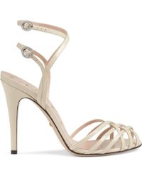 9fa652dc963 Gucci Andrew High Heel Platform Sandal in Black - Lyst