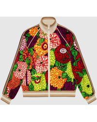 Gucci Jacke aus Baumwolle mit RV und Print von Ken Scott - Pink