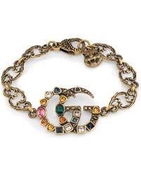Gucci - Crystal Double G Bracelet - Lyst