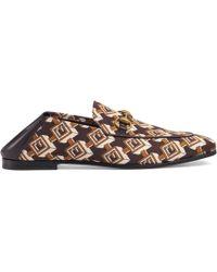 Gucci - Geometric G Print Loafer - Lyst