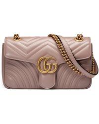 Gucci - Bolso de Hombro GG Marmont de Matelassé - Lyst