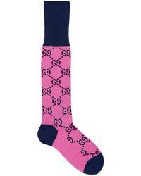 Gucci Calcetines de mezcla de algodón GG Multicolor - Rosa