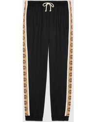 Gucci グッチルーズ テクニカルジャージー ジョギングパンツ - ブラック