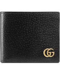 Gucci GG Marmont Leather Bi-fold Wallet - Black
