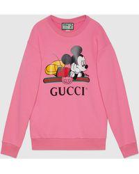 Gucci グッチdisney (ディズニー) X オーバーサイズ スウェットシャツ - ピンク