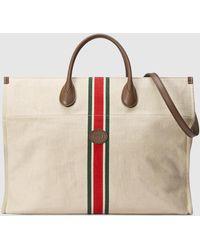 Gucci Großer faltbarer Shopper - Weiß