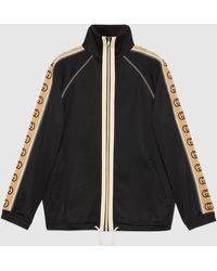 Gucci - 【公式】 (グッチ)オーバーサイズ テクニカルジャージー ジャケットブラック テクニカルジャージーブラック - Lyst