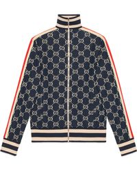 Gucci GG Jacquard Cotton Jacket - Blue