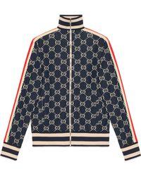 f6060d9fe377e Gucci - Chaqueta de Algodón de Jacquard GG - Lyst
