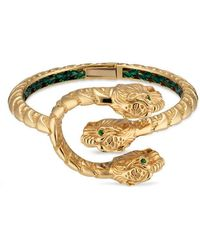 Gucci | Dionysus Bracelet In Yellow Gold With Tsavorites | Lyst