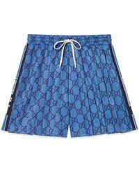 Gucci Pantalones cortos con GG - Azul