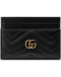 Gucci 【公式】 (グッチ)〔GGマーモント〕カードケースブラック レザーブラック