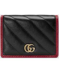 Gucci - グッチ〔GGマーモント〕カードケース(コイン&紙幣入れ付き) - Lyst