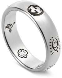 """Gucci """"blind For Love"""" Ring In Silver - Metallic"""