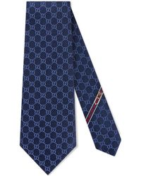 Gucci Corbata con diseño GG - Azul