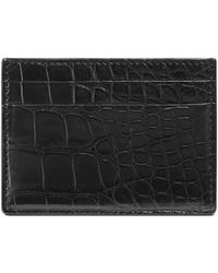 Gucci - Crocodile Card Case - Lyst