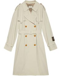Gucci Cotton Trench With Label - White