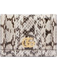 Gucci - Ophidia Snakeskin Card Case - Lyst