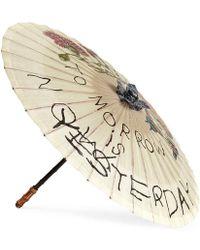 Gucci Coco Capitán Print Chinese Umbrella - Natural