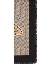 Gucci - Stola aus Wolle mit Bienen-Print und Web - Lyst