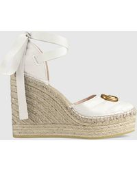 Gucci Plateau-Espadrilles Marmont - Weiß