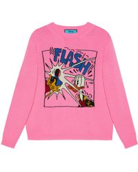 Gucci Disney x Donald Duck Wollpullover - Pink