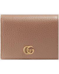 Gucci - グッチ〔プチ マーモント〕 レザー カードケース(コイン&紙幣入れ付き) - Lyst