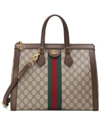 82e66e6ac Gucci Ghost Large Leather Tote Bag in Red - Lyst