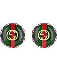 Gucci Vintage Web Ohrringe - Grün