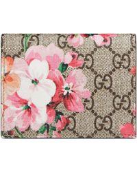 Gucci Porte-cartes GG Blooms - Neutre