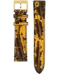 Gucci Grip Armband aus Leder mit Teju-Print, 38 mm - Mettallic
