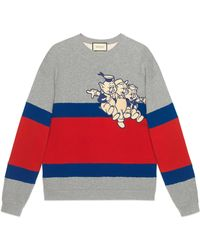 Gucci - Sweat-shirt à empiècement Les Trois Petits Cochons pour homme - Lyst