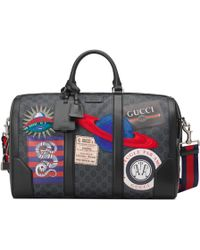 Gucci Night Courrier Reisetasche aus weichem GG Supreme