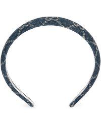 Gucci Eco Washed Denim Hair Band - Blue