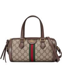 Gucci Ophidia GG Small Boston Bag - Natural