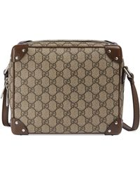 Gucci - GG Shoulder Bag With Leather Details - Lyst