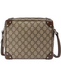 Gucci - Bolso de hombro con detalles de piel - Lyst