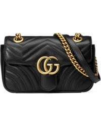 Gucci Gg Marmont Matelassã© Mini Bag - Black