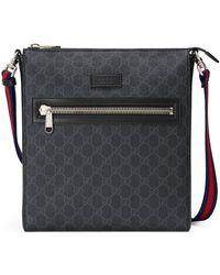 Gucci GG Supreme Messenger Bag - Black