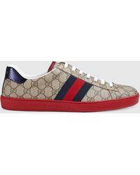 Gucci Ace Herren-Sneaker GG Supreme - Natur